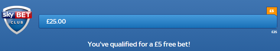 skybet free bet qualified
