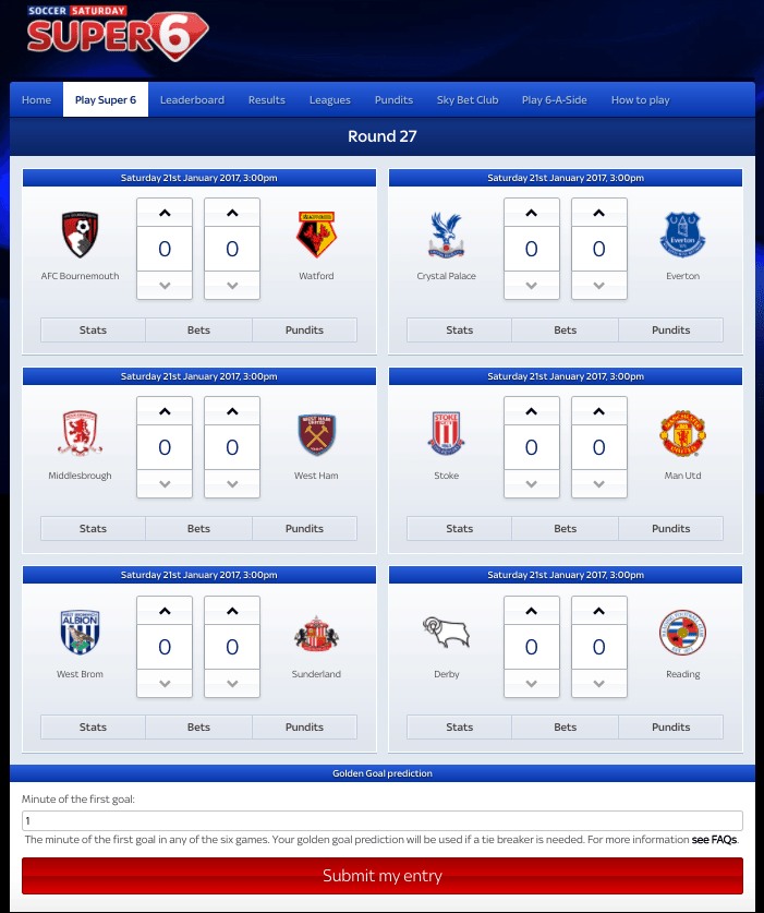 super 6 predictions