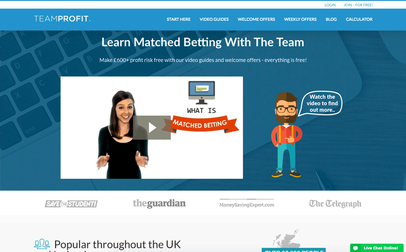 team profit homepage