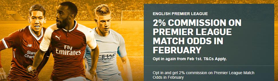 Betfair 2% Commission Premier League - Team Profit